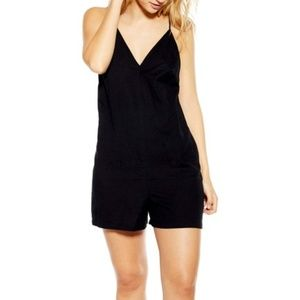 TOPSHOP Strappy Sleeveless Playsuit
